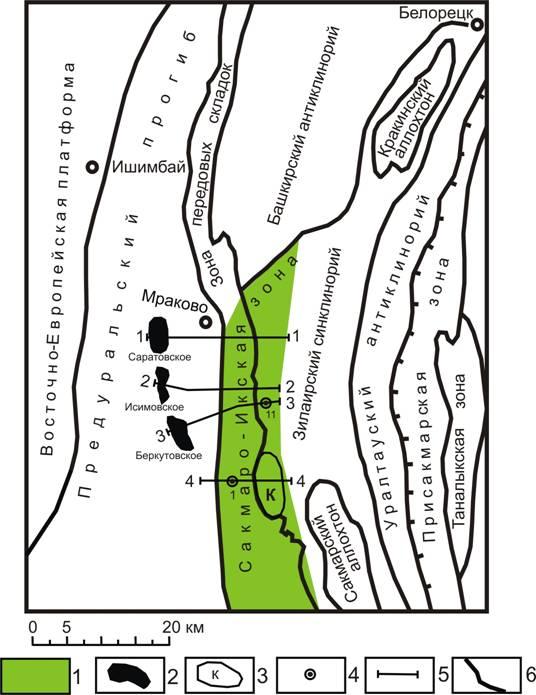Схема тектонических структур